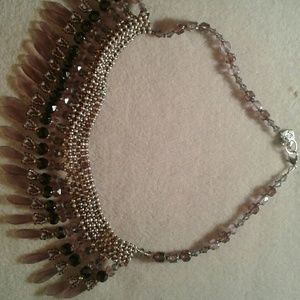 """Jewelry - """"Cathedral goes tribal"""" beaded dagger necklace"""